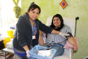 Exitosa primera jornada de donación de sangre fuera de Hospital San Fernando.