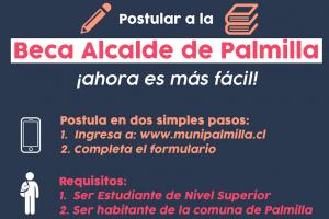 Palmilla: Postulaciones a beca para estudiantes de educación superior.