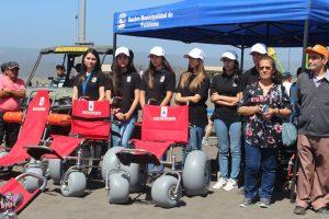 Pichilemu abre playas inclusivas para personas con movilidad reducida.